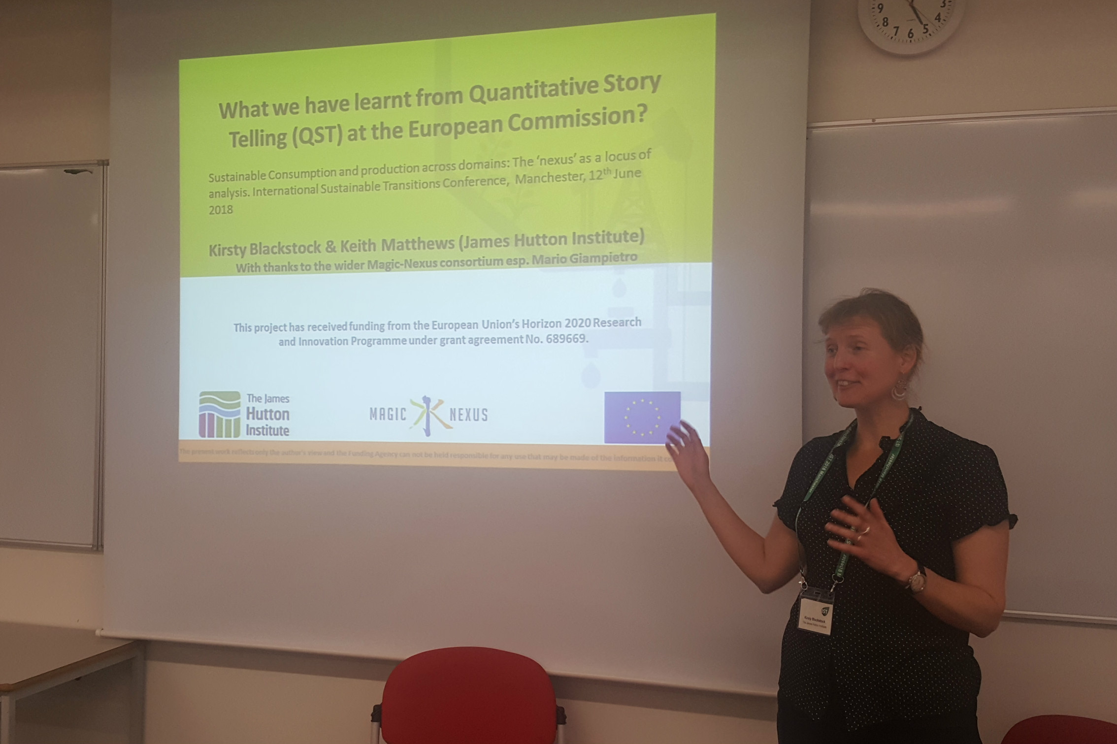 IST 2018 Conference - Kirsty Blackstock presenting
