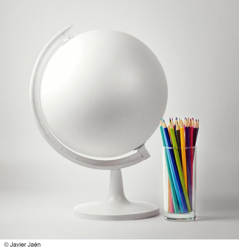 White Globe by Javier Jaen